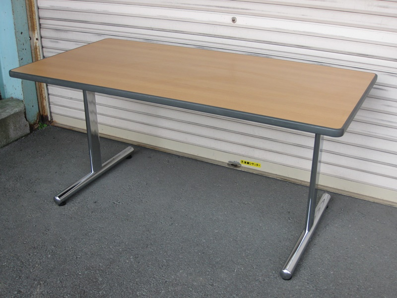 木目天板 ミーティングテーブル