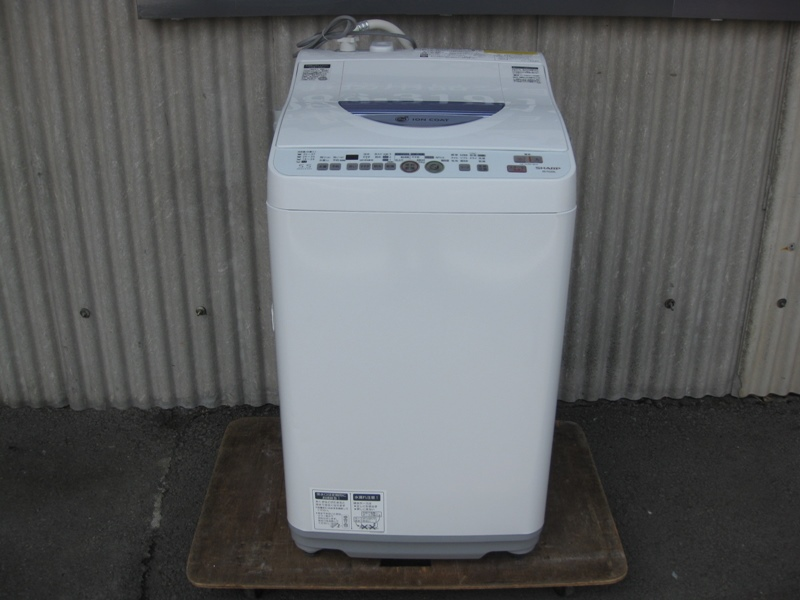 SHARP ES-TG55L 洗濯機(説明書付)