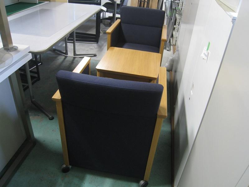 応接椅子 2脚+テーブル セット