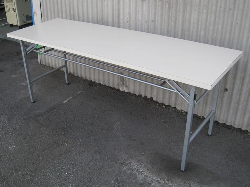 折りたたみテーブル W1800 ホワイト15台 ナチュラル5台