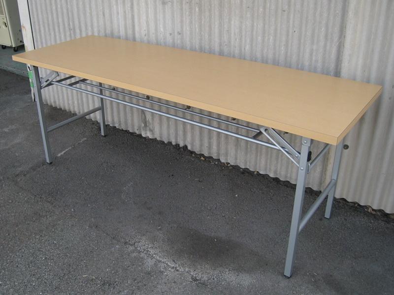 折りたたみテーブル W1800  ナチュラル