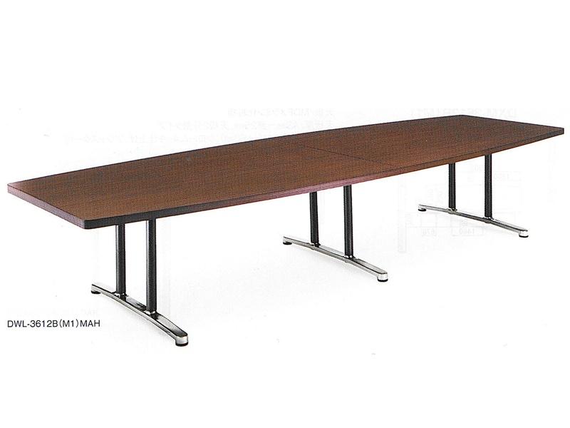 ミーティングテーブル(舟形)W3600